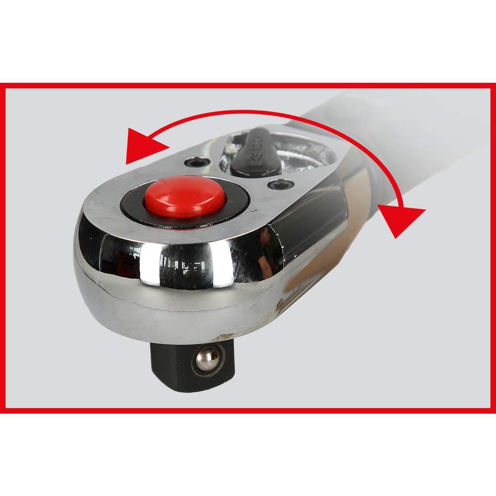 Reversible 20-100 NM, 1//2 KS Tools 516.1532 Llave dinamom/étrica 60 Dientes con Cabeza Pulida