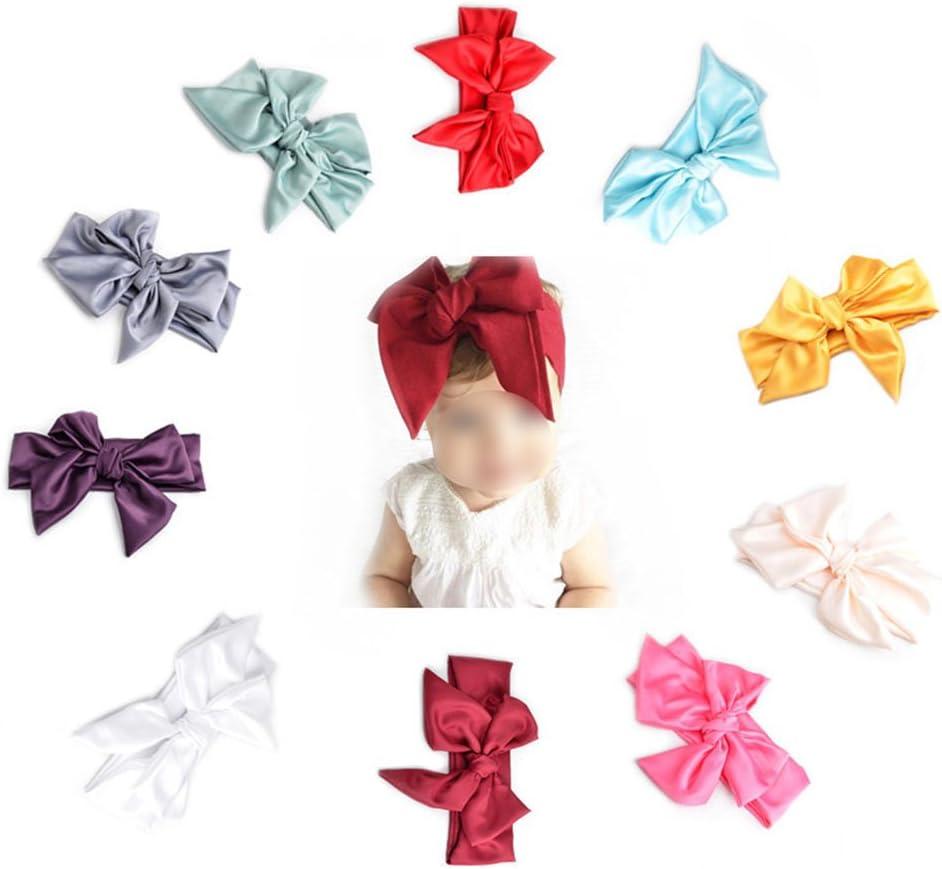 haodou bebé niñas conejo lazo oreja Headbands Turbante Nudo ...