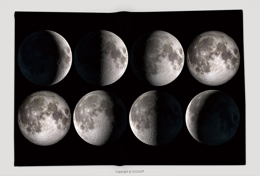 Supersoft Fleece Throw Blanket Moon Phases_529161391 by vanfan