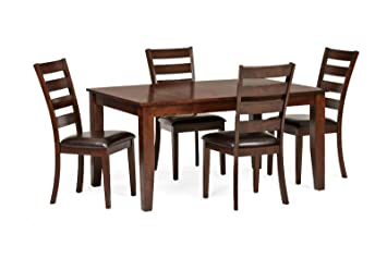 Astonishing Amazon Com Intercon Kona 5 Pc Dining Set 42 X 60 78 Gmtry Best Dining Table And Chair Ideas Images Gmtryco