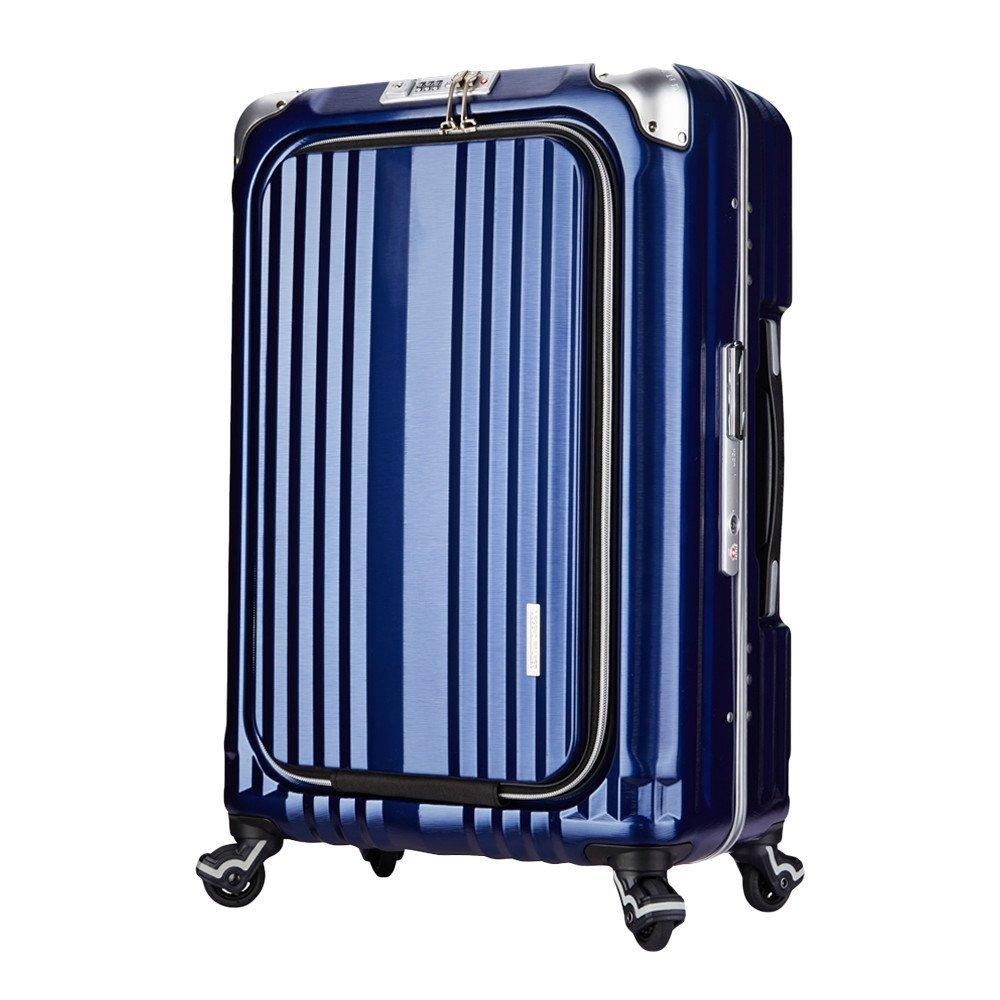LEGEND WALKER PREMIUM GRAND BLADE ブレイド スーツケース ハードケース キャリーケース フロントオープン 4輪 TSAロック 38L 機内持込可 6603-50 B01GPWNZK8ネイビー