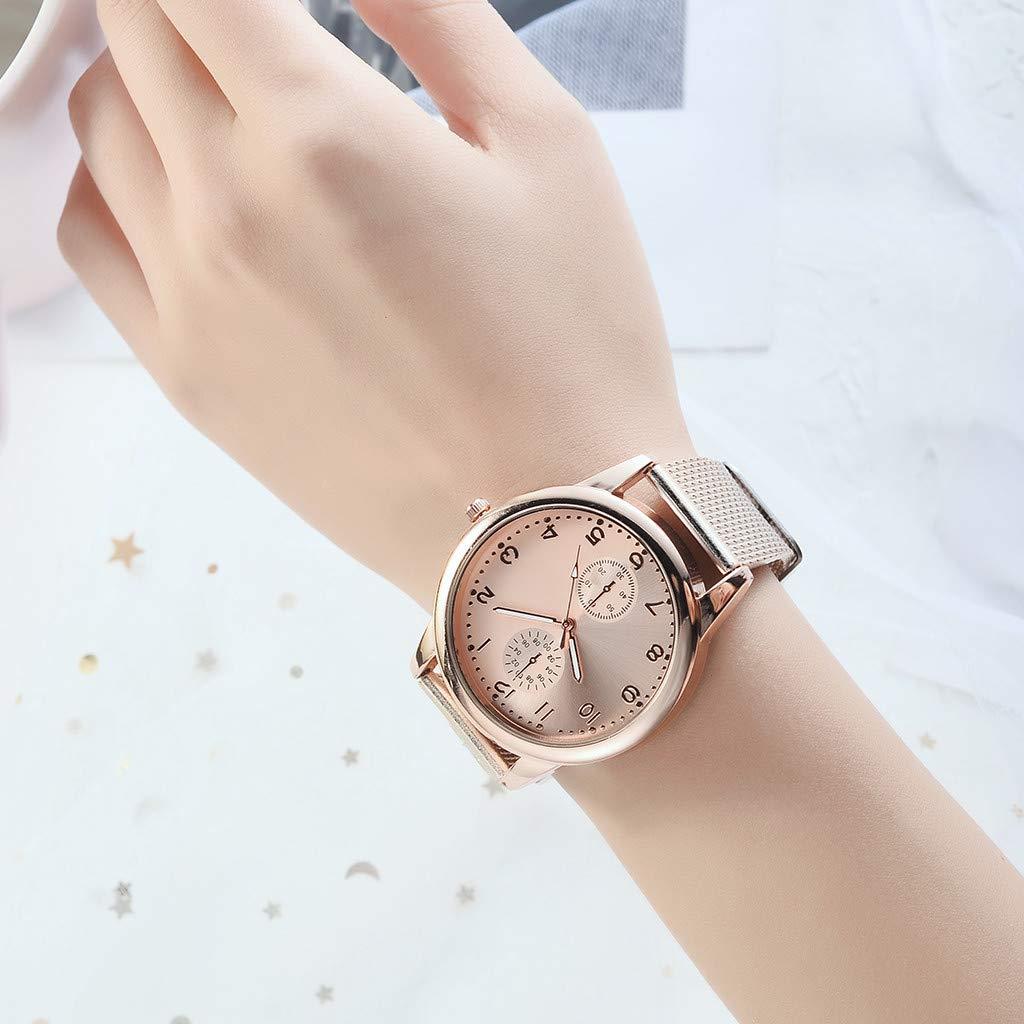 Yivise Mujeres Casual Reloj de Cuarzo Analógico Banda de Malla Dial Redondo Comfort Fit Clásico Retro Reloj de Pulsera Elegante(C): Amazon.es: Relojes