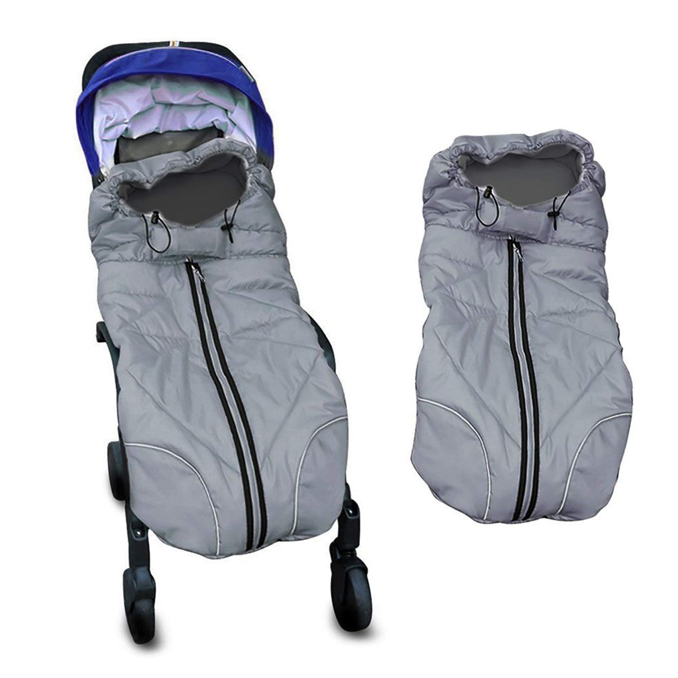 Waterproof Universal Baby Stroller Sleeping Bag Footmuff Sack Grey by Berocia (Baby Stroller Sleeping Bag) by Berocia