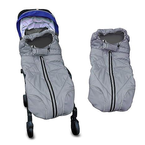 Miracle Baby Sacos Carrito Bebe,Sacos de Abrigo para Carritos Impermeable y Transpirable,Sacos Carrito Bebe Invierno 102X54CM Azul marino
