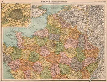 Map Of France Showing Paris.Amazon Com France North Paris Inset Paris Showing Fortifications