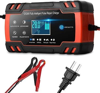 Car Battery Charger 12V 24V Automatic Intelligent Lead Acid Pulse Repair Starter