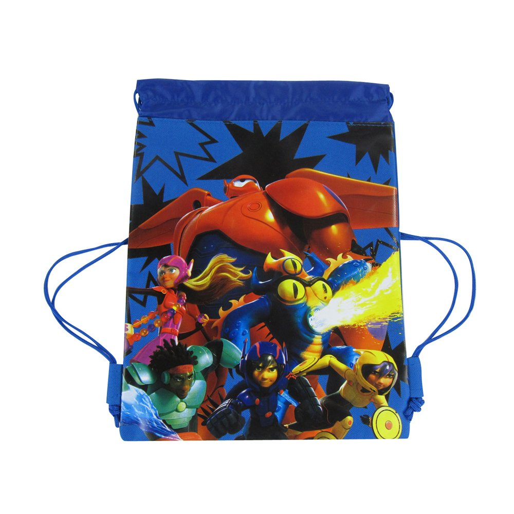Big Hero 6 Blue UPD Officially Licensed Disney Drawstring Bag