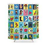 Society6 LOTERIA! Shower Curtain 71'' by 74''