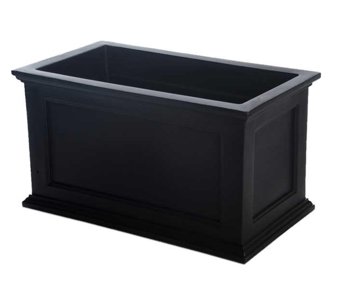 Fairfield Rectangular Window Box Color: Black, Size: 36''