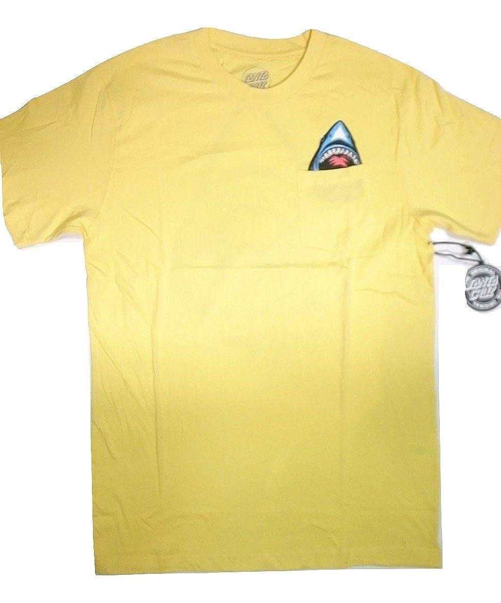 023432df Amazon | SANTA CRUZ サンタクルーズ BITER POCKET シャーク ポケット Tシャツ CORN コーンイエロー | Tシャツ・カットソー  通販