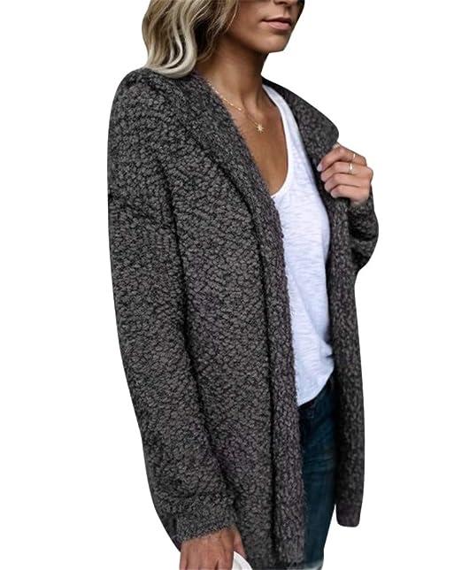 15d7cd8639e MISSMAO Ladies Womens Soft Teddy Fleece Hooded Jumper Hoody Jacket Coat:  Amazon.co.uk: Clothing