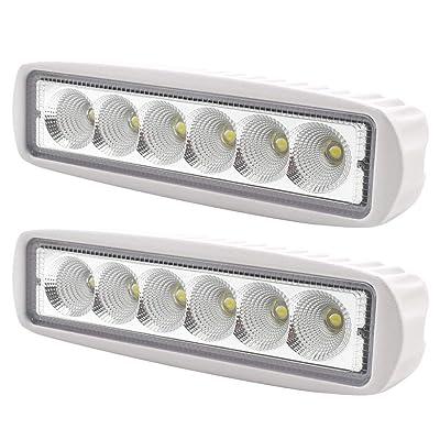 4pcs Spot Marine Spreader Lights LED Light Deck//Mast light for boat 72W 12V-30V
