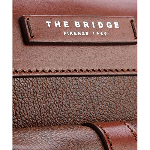 Marsupio in pelle The Bridge | JAZZ | 38 x 13,5 x 7 cm Nero