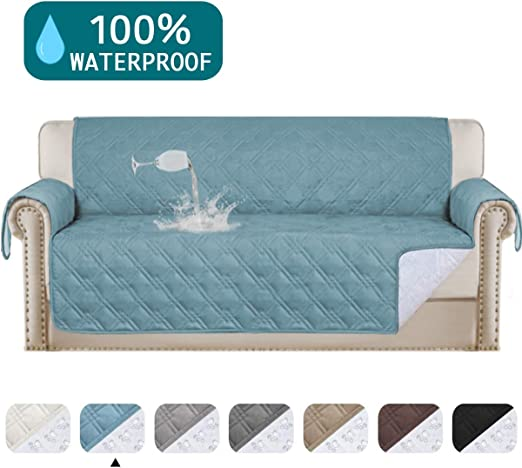 Quilted Sofa Cover Furniture Protector Throw Waterproof Sofa Slip Covers 4 Size