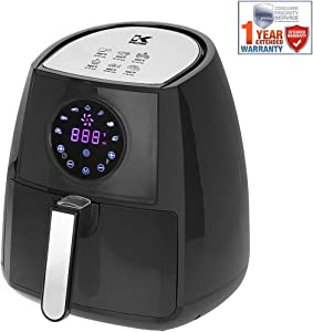Kalorik Digital Air Fryer with Dual Layer Rack Black (FT 42174 BK) with 1 Year Extended Warranty