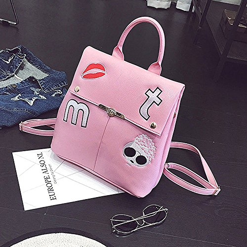 Remeehi - Bolso mochila  para mujer, gris (gris) - JXQ01962-2 rosa