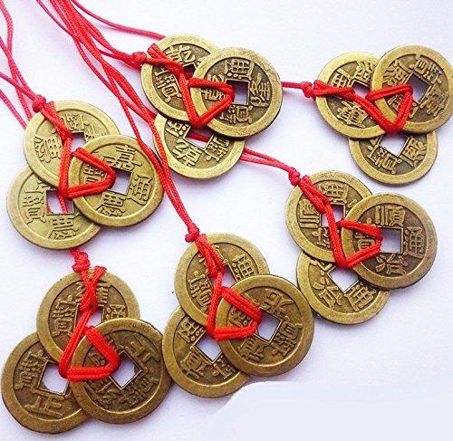 Ricos de la suerte y /éxito chino Feng Shui monedas