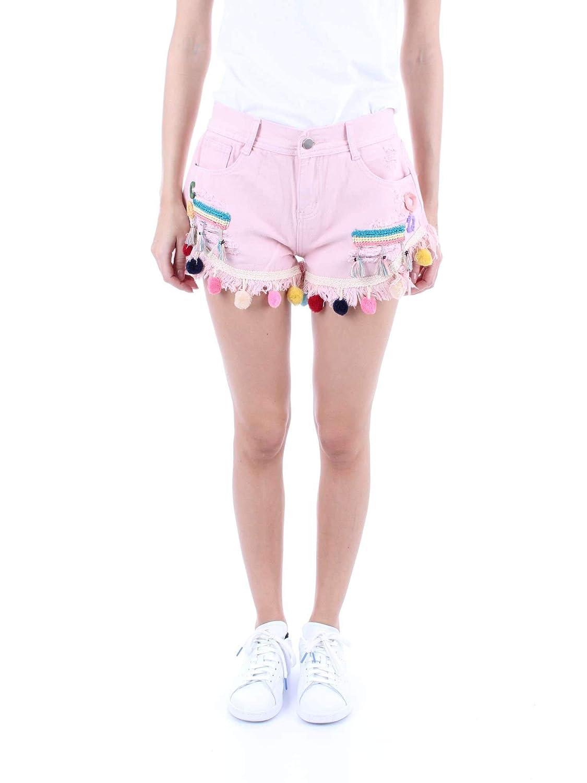Molly Bracken Women's S3686E19PINK Pink Cotton Shorts