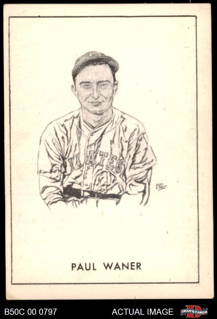 1950 Callahan Hall of Fame B Paul Waner Pittsburgh Pirates (Baseball Card) (Issued in 1952 - Incomplete Black Frame) Dean's Cards 5 - EX Pirates 61hyCPCX8WL
