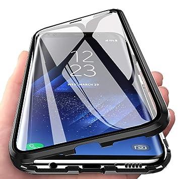 HALPP Funda Samsung A70,360° Metal Bumper con Adsorción ...