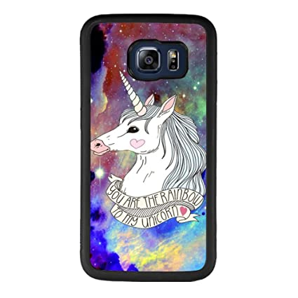 Amazon.com: Arco iris Nebula unicornio Samsung Galaxy S6 ...