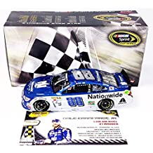 2X AUTOGRAPHED 2016 Dale Earnhardt Jr. & Greg Ives #88 Nationwide DAYTONA CAN-AM DUEL WIN (Raced Version) Signed Lionel 1/24 NASCAR Collectible Diecast Car with COA (#0841 of only 1,345 produced!)