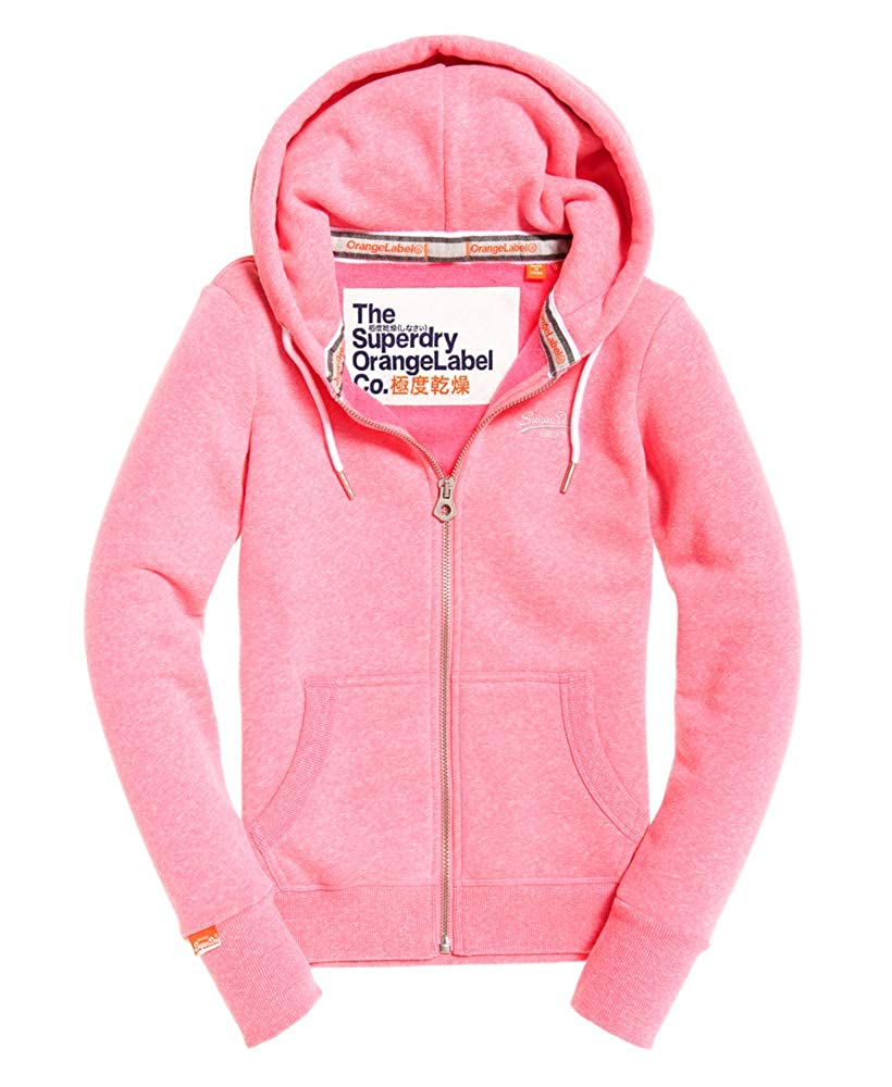 Multicolour (Carnival Sequin I2v) 5 UK Superdry Women's orange Label Primary Ziphood Sweatshirt