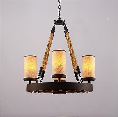 Lámparas de forja creativa la lámpara antigua cuerda luz ...