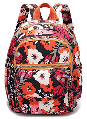 Weekend Shopper Small Lightweight Waterproof Backpack Purse Nylon Casual Travel Daypack for Women