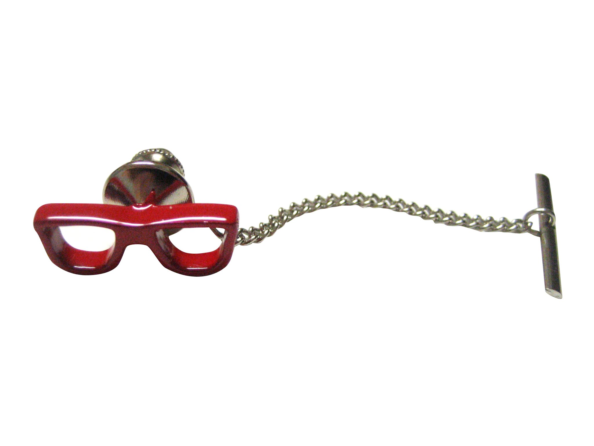 Red Glasses Tie Tack