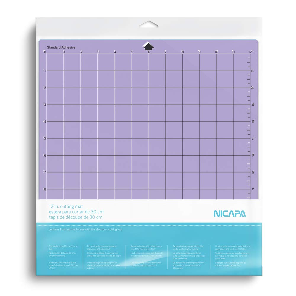 Nicapa Replacement Cutting Mat for Silhouette(12x12 inch 3pack-Standardgrip、Lightgrip、Stronggrip) Adhesive&Sticky Non-Slip Flexible Square Gridded Cut Mats Set Matts Vinyl Craft Sewing Cloth by NICAPA (Image #6)