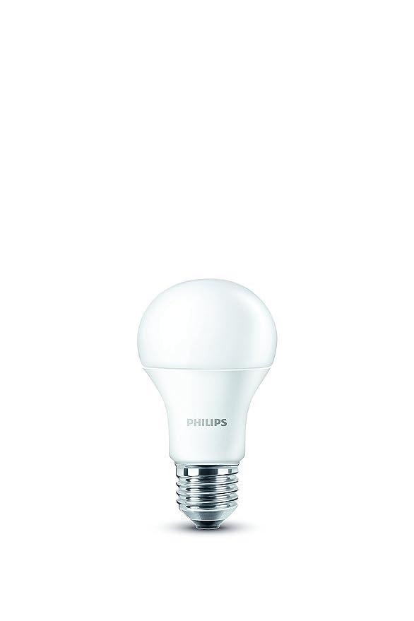 Philips Pack de 2 bombillas LED (E27, rosca (tamaño grande) Base- 8 W-consumption 60 W equivalent-partnership Philips Fed: Amazon.es: Iluminación