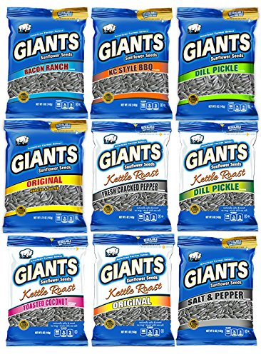 Flavored Sunflower Seed Variety Pack 12 - Bags