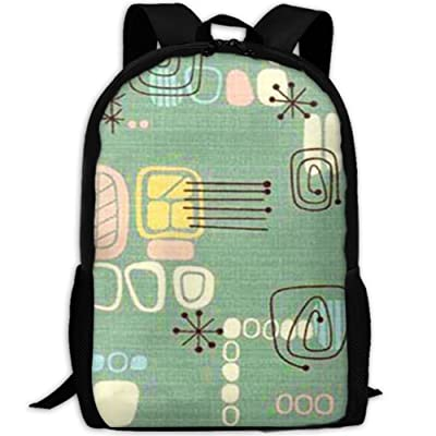 Mid Century Modern Graphic Luxury Print Men And Women's Travel Knapsack high-quality