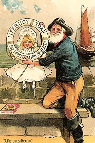 An English Victorian dermatological skin soap advertised on this trade card Features a little girl and an old salt sea captain sailor The claim on the bottom is A picture ()