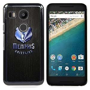- Memphis Grizzlie Basketball - - Cubierta del caso de impacto con el patr??n Art Designs FOR LG Google Nexus 5X Queen Pattern