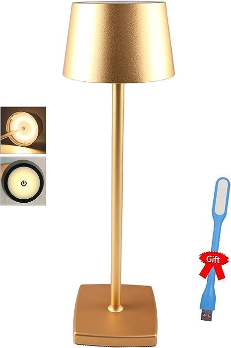 Lampada Da Tavolo A Led Senza Fili Lampada Da Scrivania Ristorante Con Usb Ricaricabile Per Camera Da Letto Lampada Da Comodino In Alluminio Conchiglia Eye Protect Lamps Gold Amazon It Illuminazione