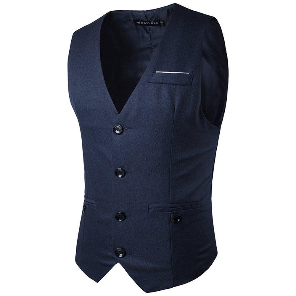 Männer - Weste, europäische und amerikanische Mode - Brust - Dekoration, Anzug, Weste,Marine,m