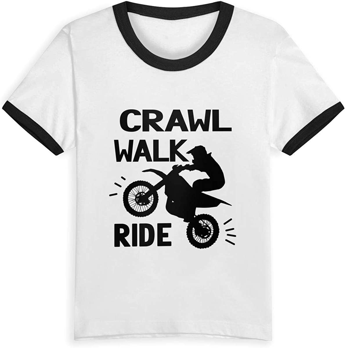 Queen Elena Crawl Walk Ride Motocross.webp, 2-6Y Cartoon Print Boys T Shirt Summer Infant Niños Niñas Fashion Camisetas Ropa Algodón Bebé Contraste Color Negro Negro (3 años: Amazon.es: Ropa y accesorios