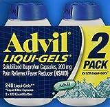 Advil Liqui-Gels Pain Reliever 3 Pack ( 240 Count Each ) jK@gfHssc