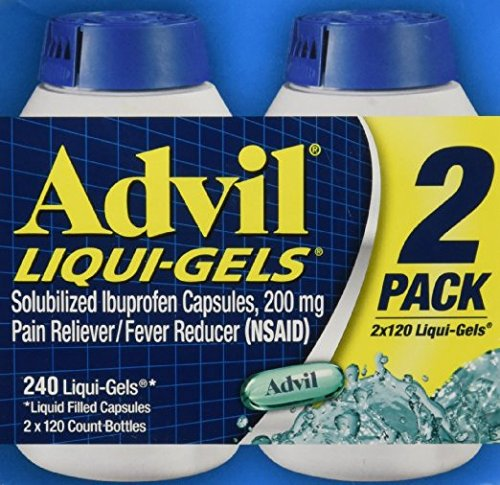Advil Liqui-Gels Pain Reliever 5 Pack ( 240 Count Each ) jK@gfHssc by Advil