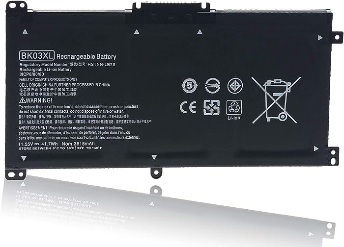 BK03XL Laptop Battery for HP Pavilion X360 14 14m Series, 14-BA175NR 14-BA253CL 14-BA125CL 14M-BA013DX 14M-BA015DX 14M-BA114DX BA014DX BA114DX HSTNN-LB7S TPN-W125 BK03041XL 916366-421 541 916811-855
