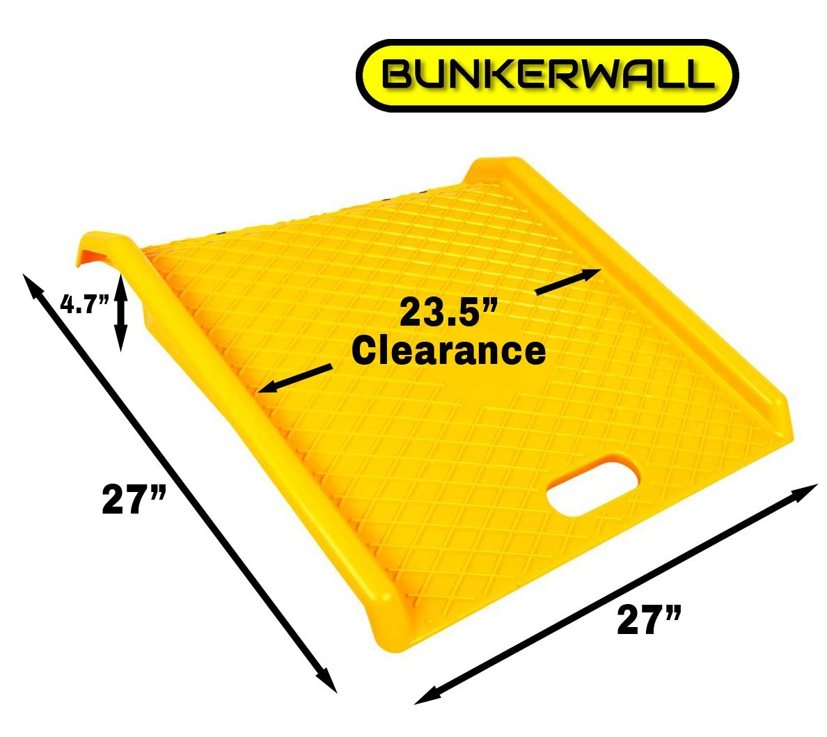 Curb Ramp - Heavy Duty 1000 Lbs Load Capacity - Yellow High Density Polyethylene for Hand Truck Delivery by BUNKERWALL (Image #2)