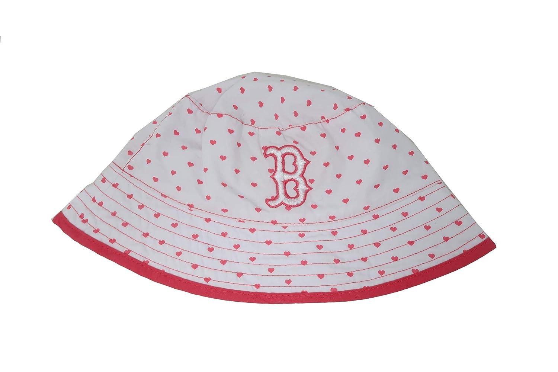 New Era Infant//Toddler Hat Boston Red Sox White//Pink Bucket Cap 10956026