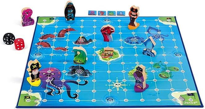 Janod Juego De Estrategia Crazy Pirates, Multicolor (Juratoys SAS J02740): Amazon.es: Juguetes y juegos