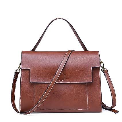 053b793f68 FFQNG Borsa da Donna Spalla Messenger Bag Grande Cerniera Flap Viene  Fornito con Una Tracolla Staccabile,Brown: Amazon.it: Casa e cucina