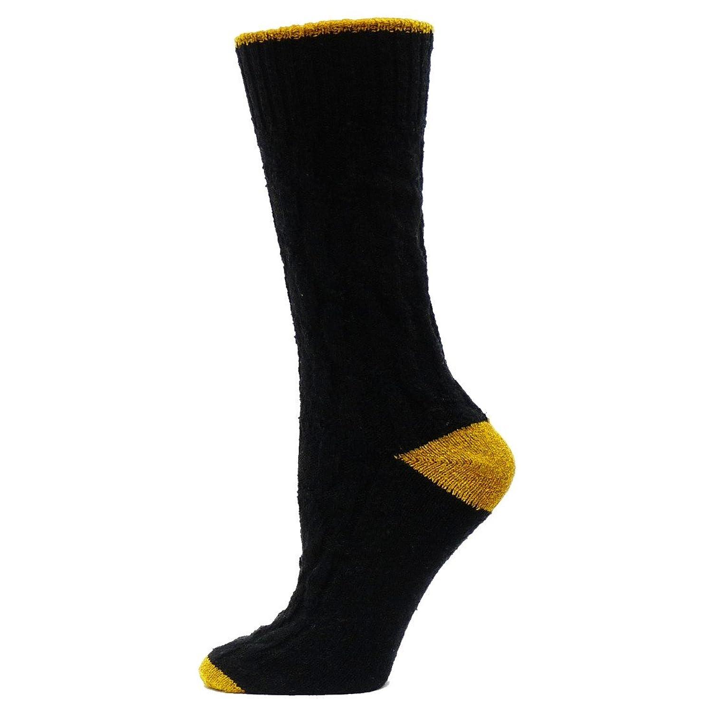 Qt feet 2 Tone Cable Crew Socks