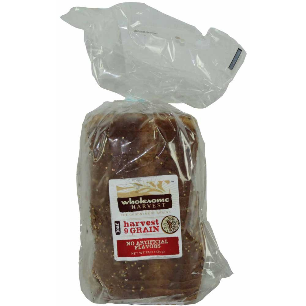 Wholesome Harvest 9 Grain Sliced Thaw and Sell Sandwich Bread, 22 Ounce -- 12 per case.