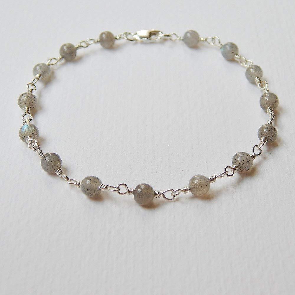 Labradorite Bracelet in Sterling Silver