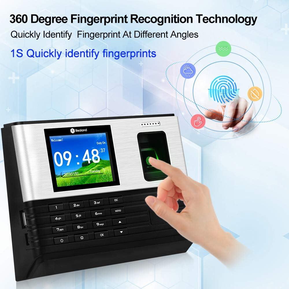 2,8 Zoll TFT-Bildschirm KDL WiFi Biometrischer Fingerabdruck-Anwesenheitsautomat TCP//IP-Netzwerk Mitarbeiter Check-in-System DC 6V // 1A Stechuhr-Rekorder RFID-Kartenerkennung englische Sprache